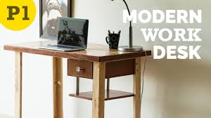 modern style work desk – how to build  youtube