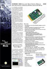 iscm4805 8005 intelligent servo control modules 1 2 pages