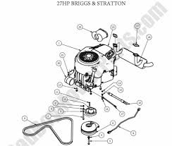 Drive arm assembly · engine 27hp briggs
