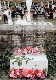 Beautiful Clear Acrylic Seating Chart For Oregon Wedding