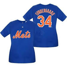 Details About Noah Syndergaard New York Mets Majestic Womens Plus Size Name Number T Shirt
