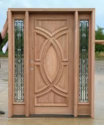Exterior Wood Doors With Wrought Iron Glass Sidelights - Iron exterior door
