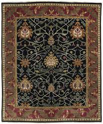 william morris black tree design rug