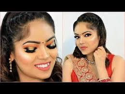indian wedding party orange makeup