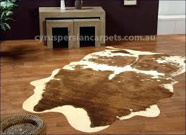 rawhide faux cow skin rug fake tiger with full head
