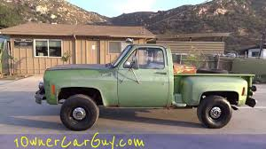 1975 Chevy K10 Stepside 4x4 Manual 350 V8 Pickup Truck Classic ...