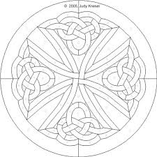 Stained Glass Pattern Simple Free Celtic Patterns For Stained Glass