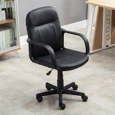 Office Chair Leather Amazoncom Belleze Mid Back Office Chair Pu Leather Ergonomic