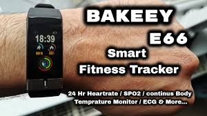 BAKEEY <b>E66</b>: Thermometer, ECG, Blood Pressure, Blood Oxygen ...