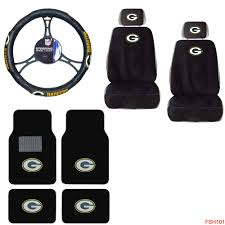 nfl green bay packers car truck seat covers steering wheel cover