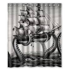 cool fabric shower curtains. Free Shipping Cool Kraken Octopus Custom Shower Curtain Home Decor Bathroom Waterproof Fabric Fashion Bath With Unique Curtain. Curtains U