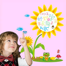 get ations kindergarten children s room cartoon sunflower garden style can be wall decor wall stickers sticker graffiti stickers