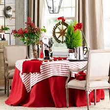 60 dining table decor in red