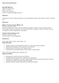 Resume Objective For Sales Associate Mmventures Co