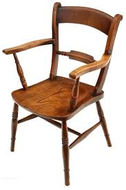 19c elm beech oxford bar back armchair desk chair