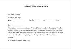 Sample Doctors Note For Legal Work Template Download Excuses