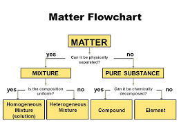 Organization Of Matter Flow Chart Matter Flowchart Matter Yes No Mixture Pure Substance Yes No