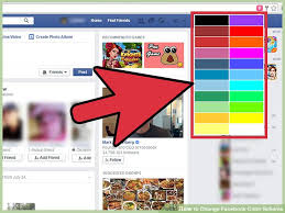 image titled change facebook color scheme step 7