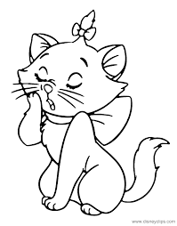 Marie The Cat Coloring Pages