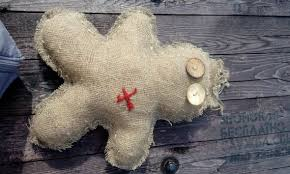big voodoo doll handmade doll burlap