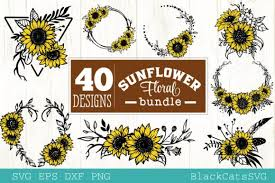 Complete with 10 christmas inspired svg designs, this bundle comes in svg, dxf, ai, eps and png. Sunflower Frames Bundle 40 Designs Graphic By Blackcatsmedia Creative Fabrica Graphic Design Mandala Art Sunflower Wallpaper