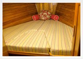 how to make v berth cushions