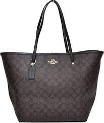 Coach Signature Large Taxi Tote Bag (Brown  Black)