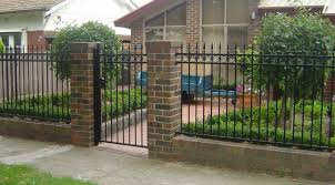 iron fence design black wrought iron paint color brick fence pillar home interior the dramatic fence designs for your front yard