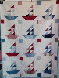 Sailboat Quilt Pattern Custom Decoration