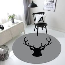 deer area rugs deer printed round carpets non slip mat for living room area rugs for deer area rugs