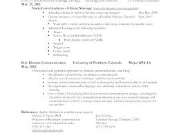 Spa Therapist Resume Massage Therapist Resume Sample Pics Spa