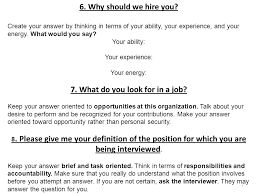 Why Should We Hire You Best Answers Under Fontanacountryinn Com
