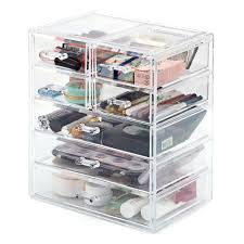 makeup organizer ezoware acrylic cosmetic organizer with 7 drawer display storage conner box case for jewelry