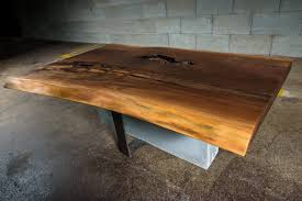 Black Walnut Coffee Table Live Edge Black Walnut Coffee Table On Concrete And Steel
