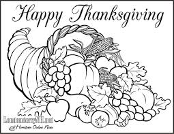 Printable Happy Thanksgiving Coloring Pages Featured Free