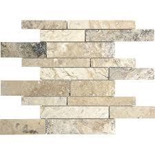 anatolia tile pablo linear mosaic travertine wall tile common 12 in x 12