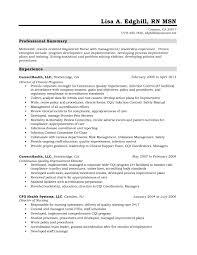 Occupational Health Nurse Resume Sample nursing resume professional summary Maggilocustdesignco 54