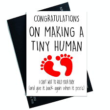 New Baby Card Congratulations Card Making A Tiny Human New Mum Card New Dad Card Baby Girl Baby Boy New Parents Cards Friend Cards Pc188