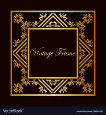 gold frame border vector. Delighful Gold Art Deco Frame Border Vector Image For Gold Frame Border Vector
