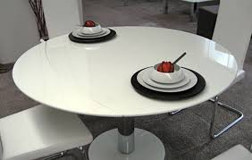 modern dining table for dining room furniture by matthias fischer round white stone