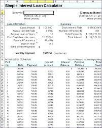 Ameritization Schedule Amortization Schedule Calculator Excel Loan Repayment Template