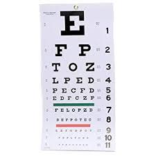 Amazon Com Emi Snellen Wall Plastic Eye Chart 22in X 11in
