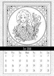 Snow Meisje Kleurplaat Boekenpagina Kalender Juli 2018