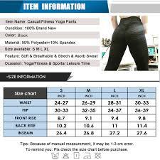Women High Waist <b>Yoga Pants</b> Hip <b>Push Up</b> Sports Gym Fitness ...