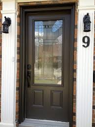 wood front doors with glass
