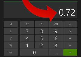 How to Convert a Percentage to Decimal Form with a Calculator