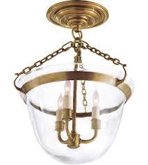 visual comfort chc2109ab e f chapman country 3 light 13 inch antique burnished brass semi flush ceiling light in antique burnished brass