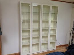 bookshelves with glass doors white ikea billy bookshelf