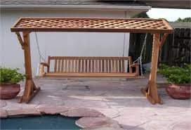 wooden porch swing stand plans