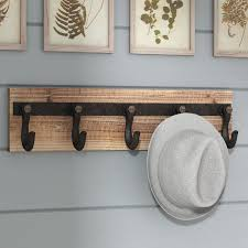 Coat Rack Attached To Wall Extraordinary 32 Inch Wall Mounted Coat Rack Wayfair